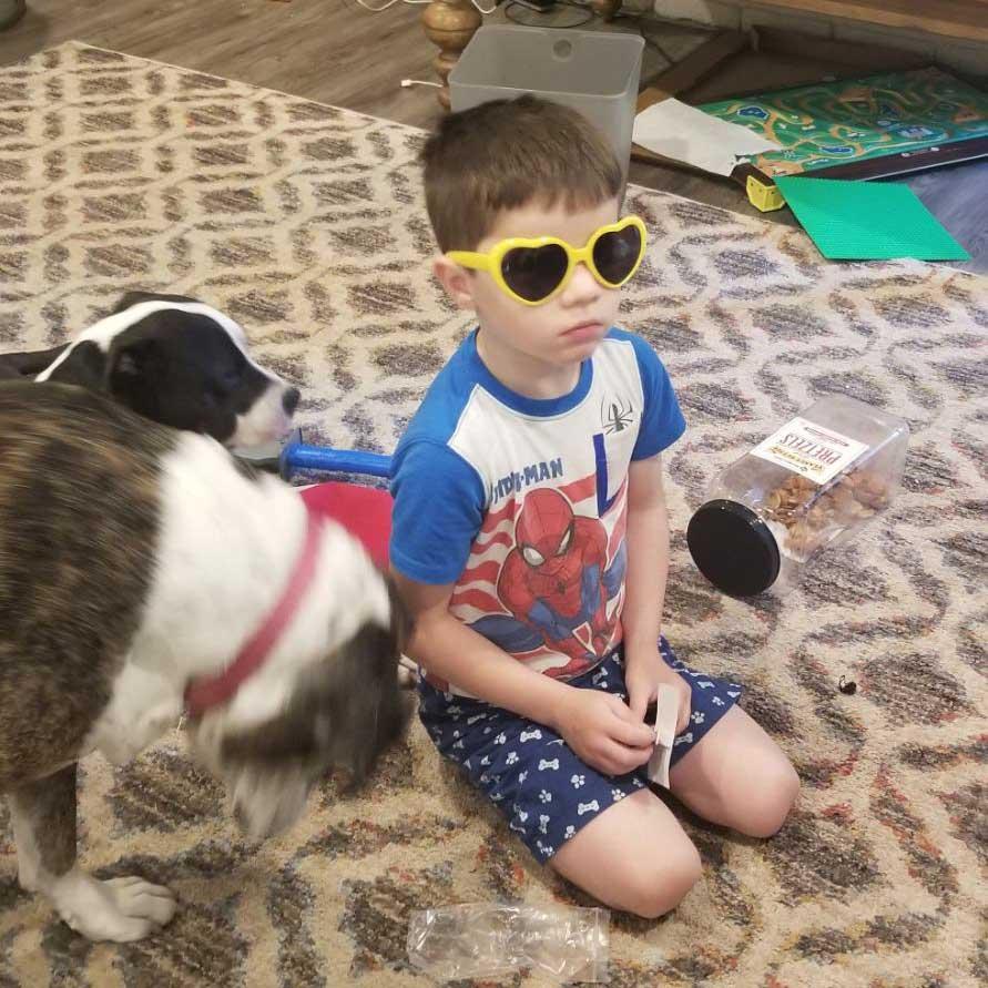 Virtual Camp for Children Camper With God Glasses