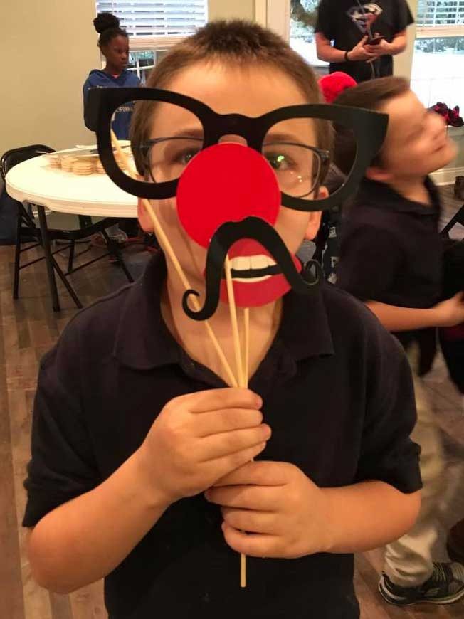 Child in the LANDers After-School Program with Glasses