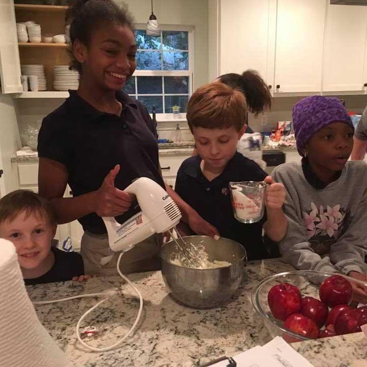 LANDers After School Children Bake Together