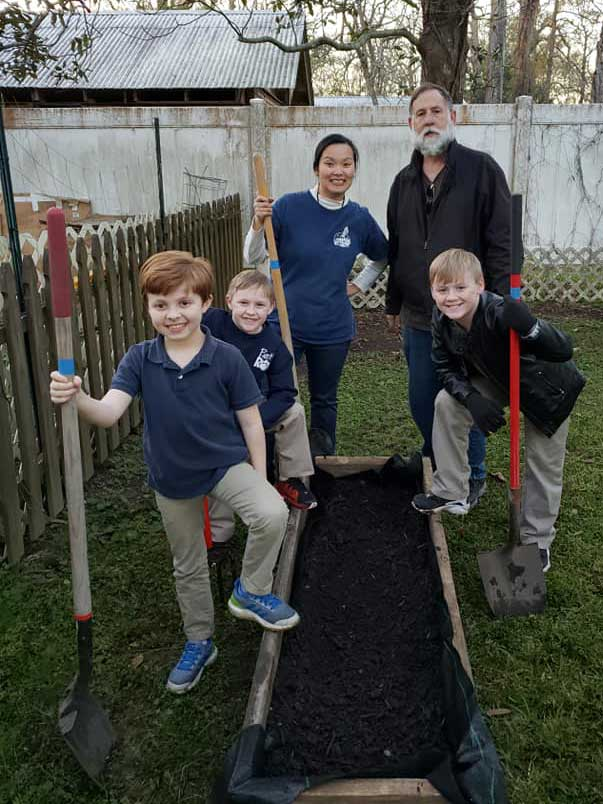 Children in the LANDers After-School Program Learn to Build and Garden
