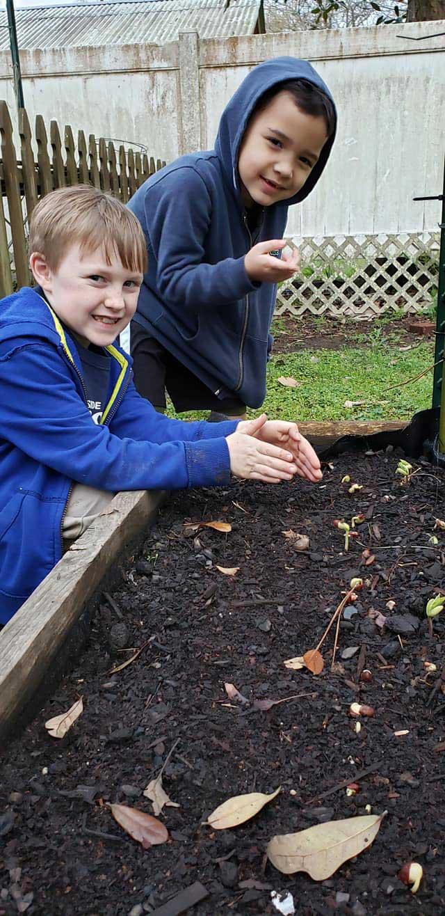 Children in the LANDers After-School Program Dig in the Dirt