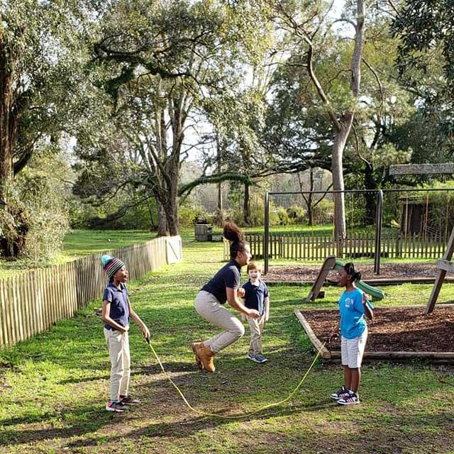 Children in the LANDers After-School Program Jump Rope