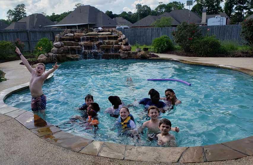 Children in the LANDers After-School Program in the Pool