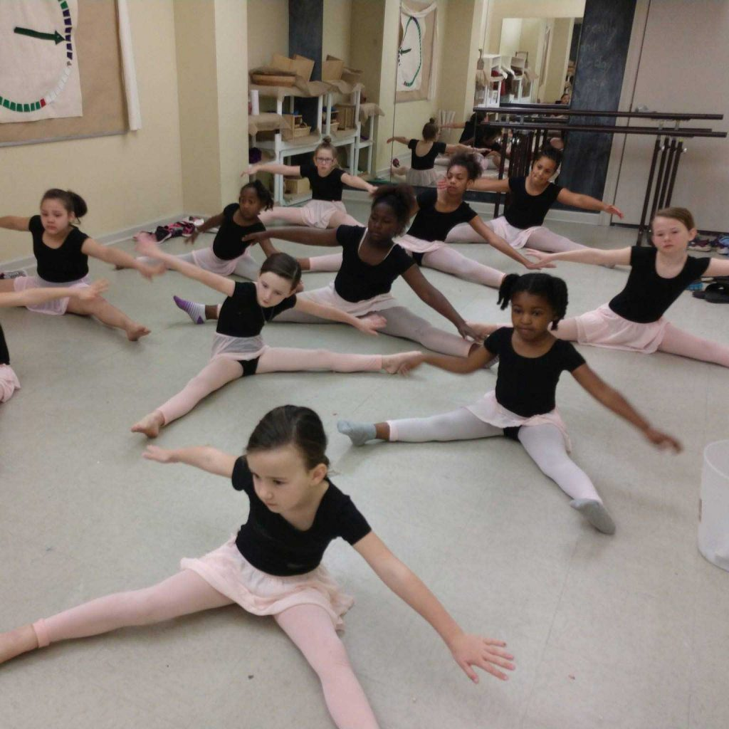 Children of the Young Artists' Academy in ballet class