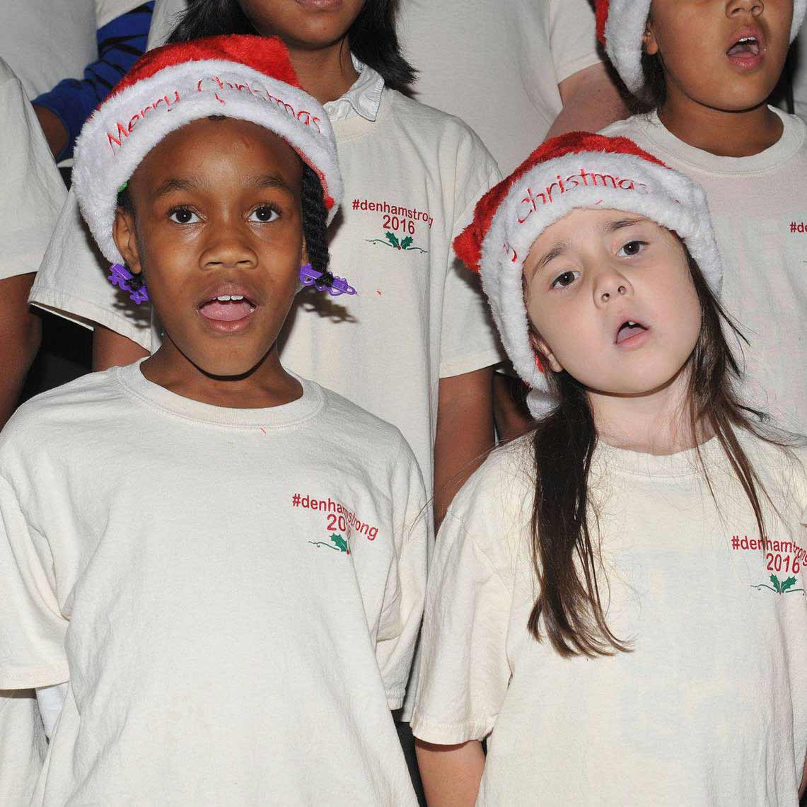 Two Children of Young Artists Academy Choir Sing at Christmas